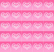 Pink Decorative Background With Abstract Love Symbols