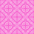 Pink Ornamental Seamless Line Pattern. Endless Texture. Oriental Geometric Ornament