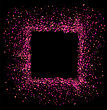 Pink Square Frame Isolated On Black Background