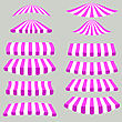 Pink White Tents Isolated On Grey Background