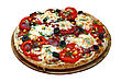 Pizza Close-up. Isolate stock photo