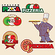 chef pizza label design