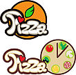 pizza label font fastfood
