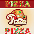 pizza font design element