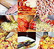PIzza Making, Collage Of Six Images
