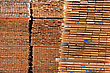 Planks Of Wood For Pallets Stacked stock photo