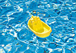 Plastic Boat Floating stock photo