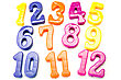 Plastic Color Numbers stock photo