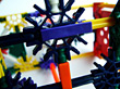 Plastic Construction Toy stock image