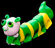 Plasticine Caterpillar. Creativity Of Children From Preschool Age stock image