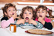 Playful Kids Celebrating Birthday stock image