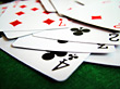 Playing Cards Shuffle - Macro stock photography