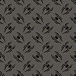 Poisonous Spider Seamless Pattern On Grey Background