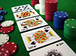 Poker Chips & Royal Flush stock image