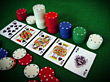 Poker Chips & Royal Flush stock photo