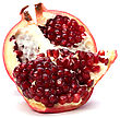 Pomegranate Isolated On White Background stock image