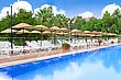 Pool In A Resort Spa Hotel stock photography