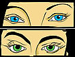 Pop Art/ Comic Style Drawign Of Women Eyes. stock illustration