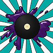 Pop Art Style Imagery Of A Vinyl Record.