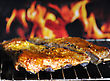 Pork Ribs On A Grill stock image