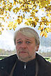 Portrait Of Mature Serious Man With Grey Hair In Autumn Day stock image