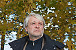 Portrait Of Mature Serious Man With Grey Hair In Autumn Day stock photography