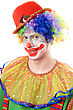 Portrait Of A Clown. stock photo