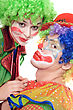 Portrait Of A Couple Of Clowns. stock image