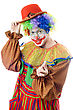 Portrait Of A Playful Clown. stock photography
