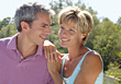 Portrait of Mature Couple Outdoors stock photo