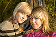 Portrait Of The Two Young Women Outdoors stock photography