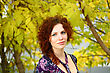 Portrait Of A Redheaded Girl Near A Tree (autumn Colors)
