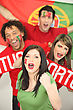 Portuguese Football Supporters stock image