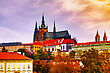 Prague Castle Close Up In The Evening At Sunset stock photography