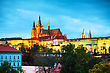 Royalpalace Prague Castle Close Up In The Evening At Sunset stock image