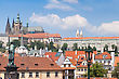 Prague City, One Of The Most Beautiful City In Europe. Charles Bridge stock photography
