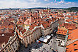 Prague City, One Of The Most Beautiful City In Europe. Panorama. stock photo