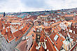 Prague City, One Of The Most Beautiful City In Europe. Panorama. stock image