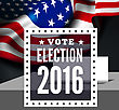 USA Presidential Election In USA. Vector Illustration With Flag stock illustration