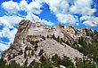 Presidential Sculpture At Mount Rushmore National Monument, South Dakota stock photo