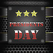Presidents Icon On Dark Grid Metal Background