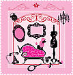 Princess Room - Illustration For Girls stock illustration