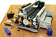Printing Printer Is Disassembled stock photography