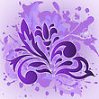 Purple Flower On A Background Splashed With Paint stock vector