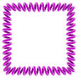 Purple Spiral Frame On White, 3d Render