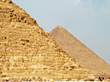 Pyramids in Egypt stock photography