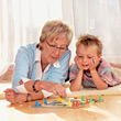 Quality Time With Grandmother stock photography