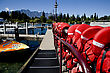 Queenstown New Zealand South Island Adventure Capital stock image