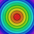 Radial Background Of Rainbow Colors