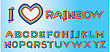 Rainbow Letters. Please, Look Rainbow Borders For Your Design In My Portfolio